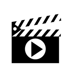 Clapperboard with play icon vector