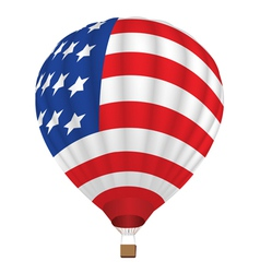 Balloon with united states flag vector