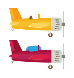 airplane flat vector image