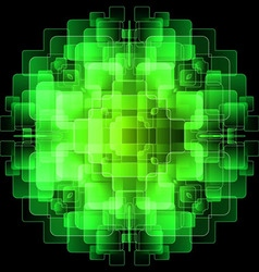 Background with green digital screens vector image vector image