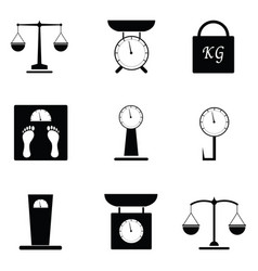 balance icon set vector image