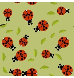 Beetle insect seamless pattern 674 vector image