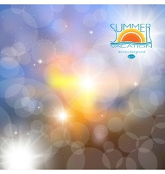 Blur the background summer heat rest abstract vector