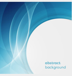 business background with abstract circles and vector image vector image