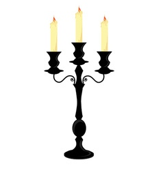 Candle holder vector image vector image