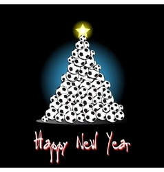 Christmas tree from soccer balls vector image vector image