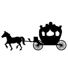 Classic carriage vector