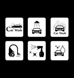clean icon car wash symbol set vector image vector image