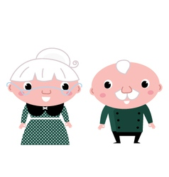 Cute elderly couple vector image