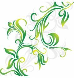 Floral vine vector