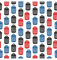 Garbage icon seamless pattern vector image