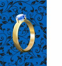 gold rings with diamonds vector image vector image