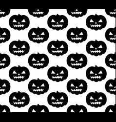 halloween pumpkin seamless pattern scary black vector image