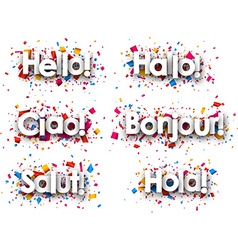 Hello paper background vector