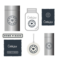 Home made design elements vector