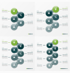 Infographic set of designs with ellipses 5-8 vector
