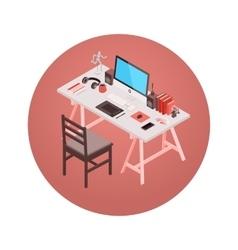 Isometric designer workplace vector image