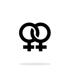 Lesbian icon on white background vector image