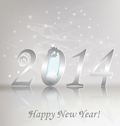 New 2014 year greeting card vector