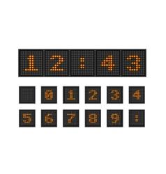 Set pixel numbers of lighting bulb vector image vector image