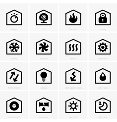 Smart home icons vector image vector image