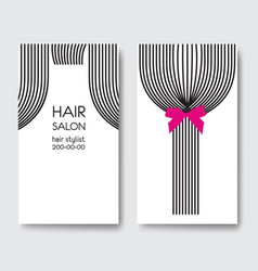 Template design business card with tail of lon vector