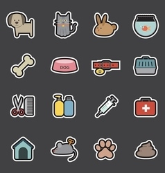 veterinary icon vector image
