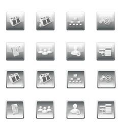 Web site buttons menu template vector image