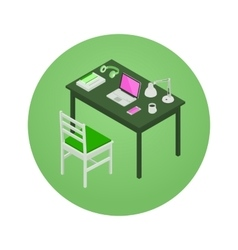 Isometric manager workplace vector