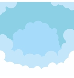 Sky and clouds background vector