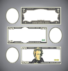 Stylized money vector image