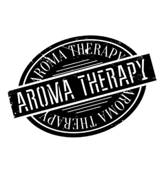 Aroma therapy rubber stamp vector