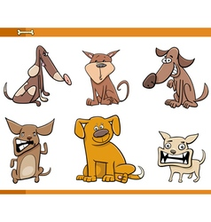 dog cartoon characters set vector image