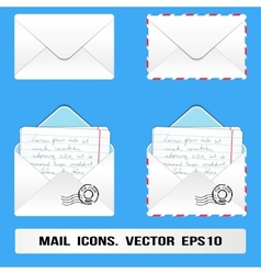 E mail icons set vector