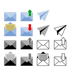 Sent and get mail icon vector