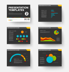 Template for presentation slides 2 vector