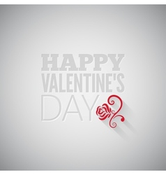 Valentines day flower on gray design background vector