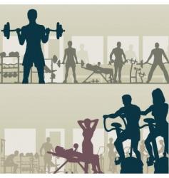 gymnasium vector image