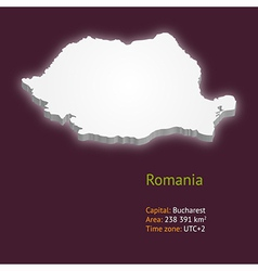 3d map of romania vector