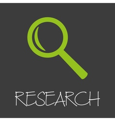 Magnifier research design banner and background vector