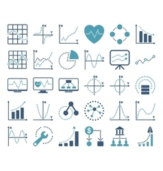 Dotted charts icons vector