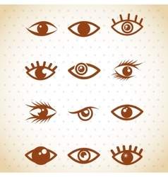 Set eyes design vector