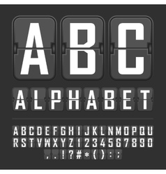 Airport alphabet vector
