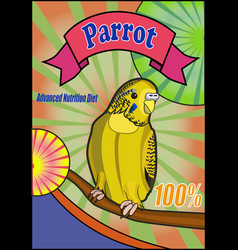Banner food for parrots vector