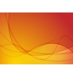 Bright abstract orange wavy background vector