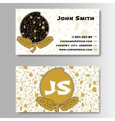 Creative Golden Business Visiting Card with vector image