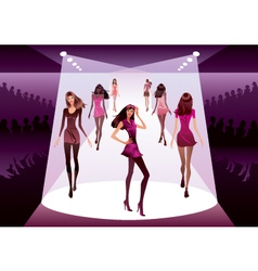 Fashion models on review vector image vector image