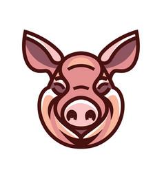 image of swine head vector image vector image