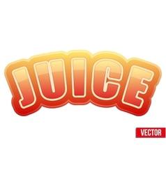 Label for apple juice Bright premium design vector image
