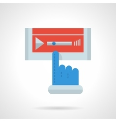 Media player flat color design icon vector image